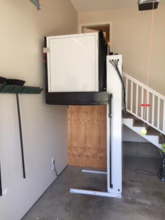 Powell River wheelchair lift after installation up